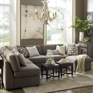 large u shaped sectional sofa with decorative pillows - Couch With Throw Pillows