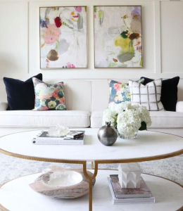 Floral Paintings and Pillows